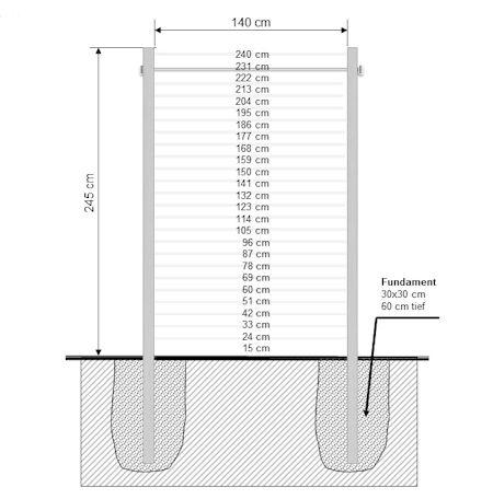 turnreck klimmzugstange aus v2a edelstahl. Black Bedroom Furniture Sets. Home Design Ideas